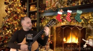 jingle bells, classical guitar and voice